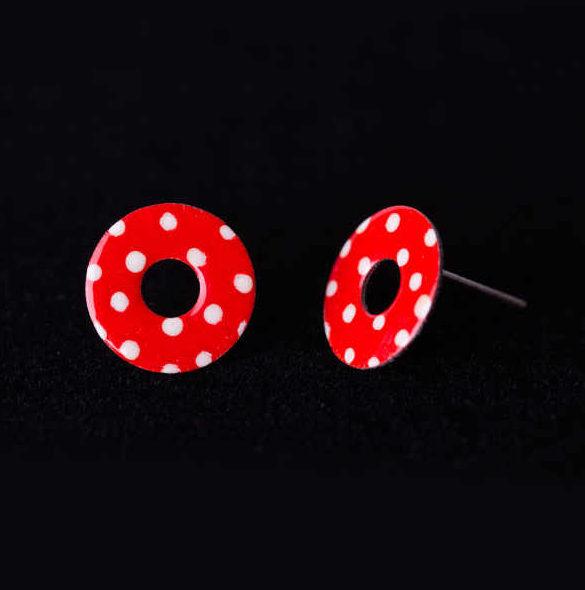 naušnice donuty retro