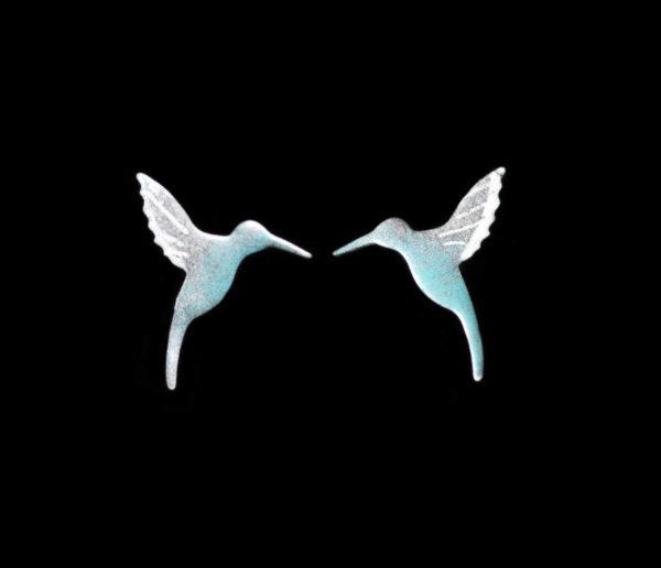 kolibřík, náušnice