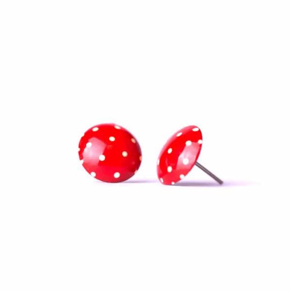 náušnice muchomůrky červené s puntíky