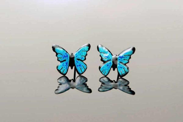 modří motýli, smaltovaní motýli