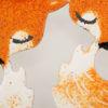 náušnice lišky na modelce