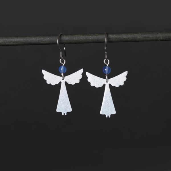 smaltované náušnice andělé