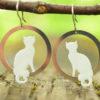 smaltované náušnice kočky