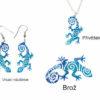 handmade šperky s ještěrkou
