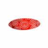 červená květovaná spona do vlasů