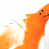 smaltovaná brož detail lišky