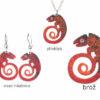 smaltované šperky chameleoni