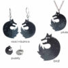 vlci smaltované šperky handmade
