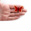 nerezová brož motýl zeradu zapínání