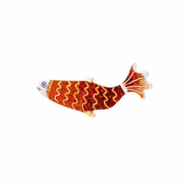 brož červená ryba