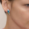náušnice modří folklorní ptáčci smalt na uchu