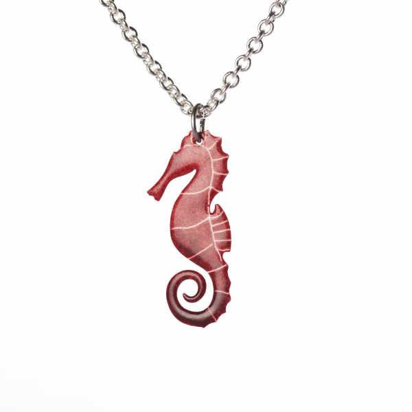 červený mořký koník přívěšek