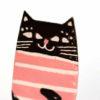 růžová kočka handmade brož
