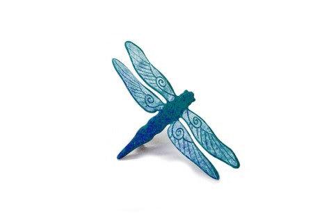 handmade brož vážka