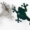 zelené žáby zezadu náušnice
