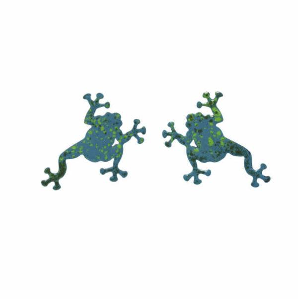 zelené žáby náušnice puzety
