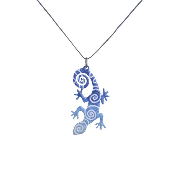 blue lizard pendant