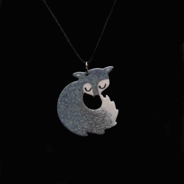 stříbrná liška přívěšek