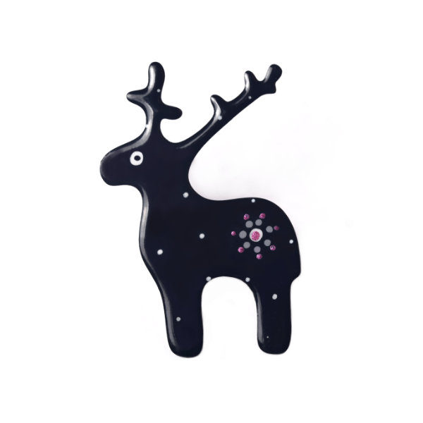 černá brož jelen