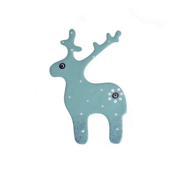 světlemodrý jelen brož