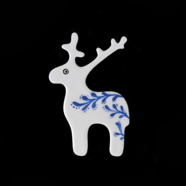 brož bílý jelen