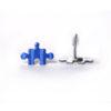 modré puzzle náušnice