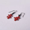 náušnice červené puzzle