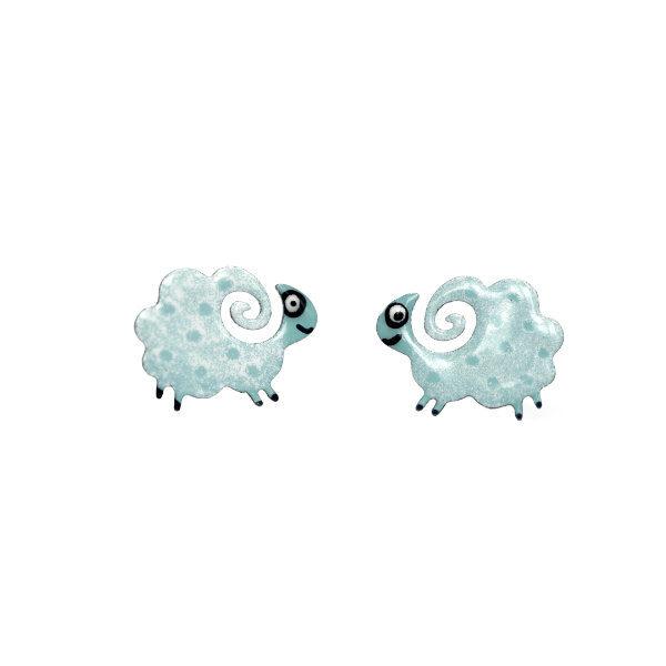 náušnice ovečky - puzety